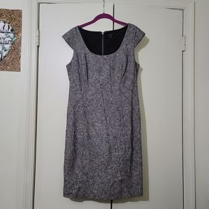 Ann Taylor Tweed Like Dress with Cap Sleeve